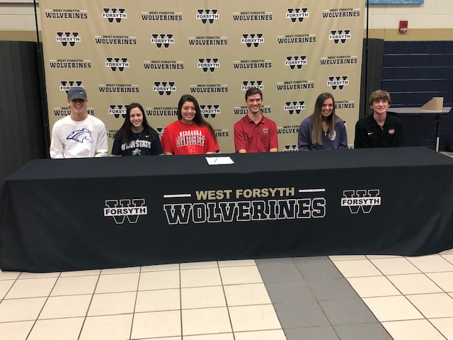 Congratulations to our College Bound Athletes Peyton, Jason, Olivia, Ella, Richie & Maria!
