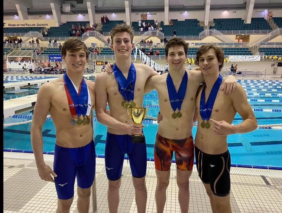 West Swimmers receive All-American Recognition! Congratualtions to Brett, Griffin, Owen & Jack!