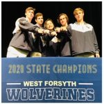 Congrats to June Phang, Griffin Egolf, Owen Holland, Brett Sasser, and Jack Aikins! West 2020 State Champion Swimmers!