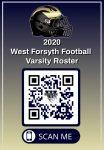 2020 West Football Roster QR Code