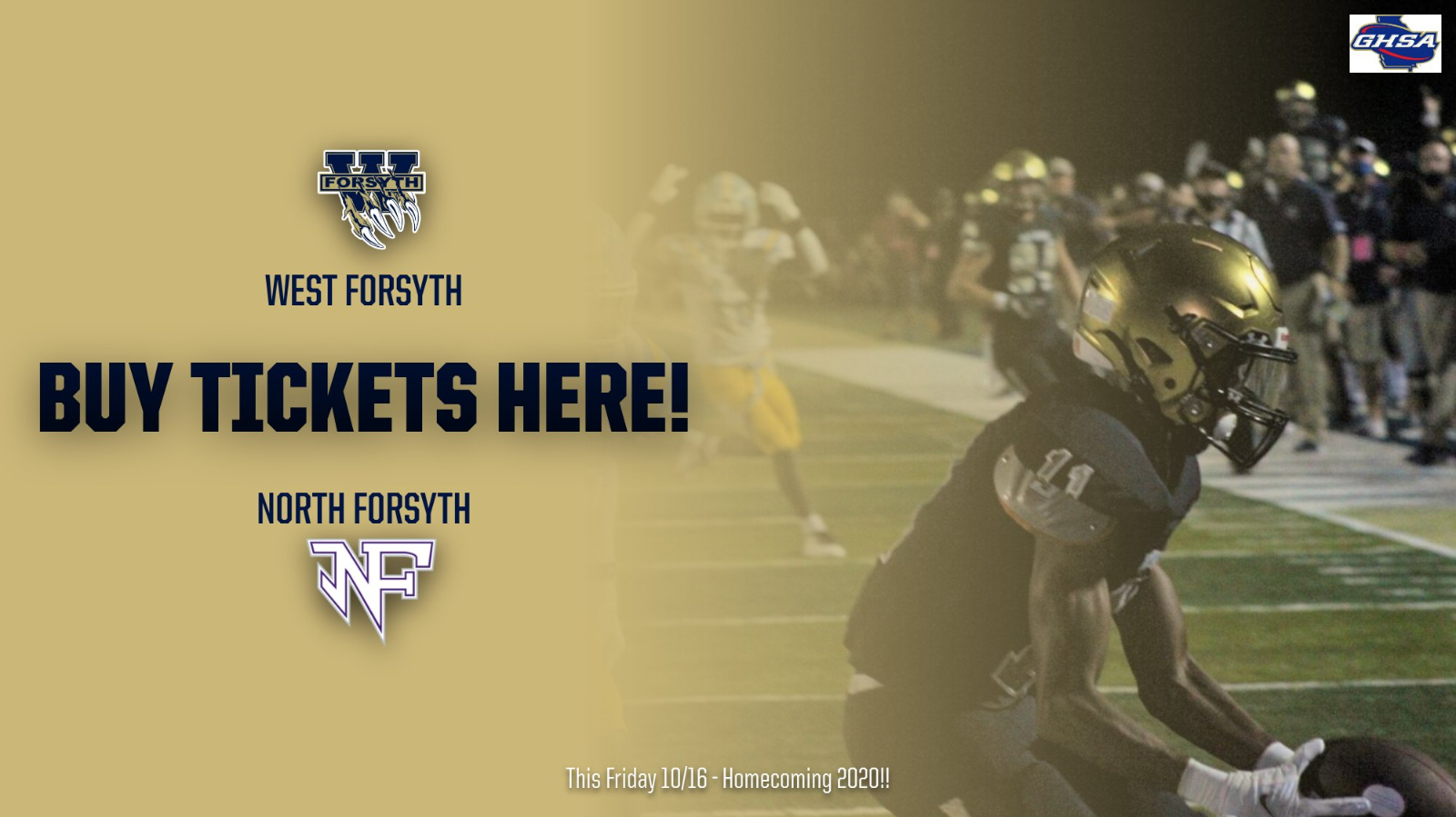 Buy Tickets HERE! North v. West for Homecoming 2020!