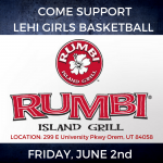 Support Girls Basketball at Rumbi Grill June 2nd!