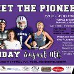 Meet the Pioneers Aug. 11