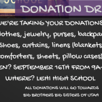 Bring Your Donation Items!
