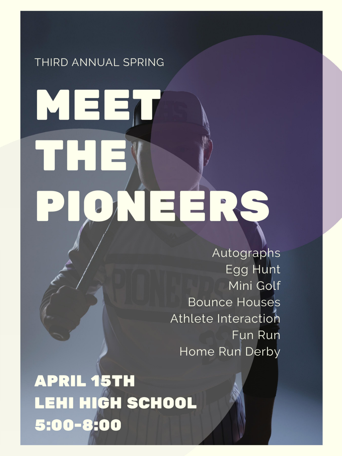 Meet the Pioneers: Spring Sports April 15, 5-8PM