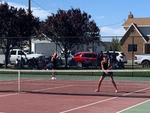 Way to go! Girls Tennis Wins Region Match against Mountain Ridge 5-0