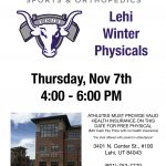 Free Physicals and flu shots for Lehi Athletes this Thursday!