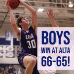 Boys Basketball beats Alta 66-65 !