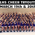 Mark your calendars- Lehi High School Cheer tryouts are March 19-20th 4-8 pm