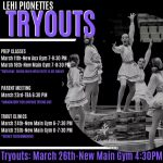 Drill Team try outs are coming up March 24-25th! Prep classes March 11 & 16th