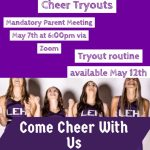LHS Cheer tryouts are on !  Registration is now available