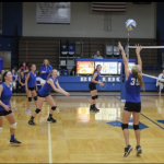 Van Meter Girls 8th Grade Volleyball falls to Des Moines Christian High School 4-1