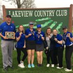 Girls Varsity Golf finishes 1st place at Invitational @ Lakeview Country Club (Winterset)