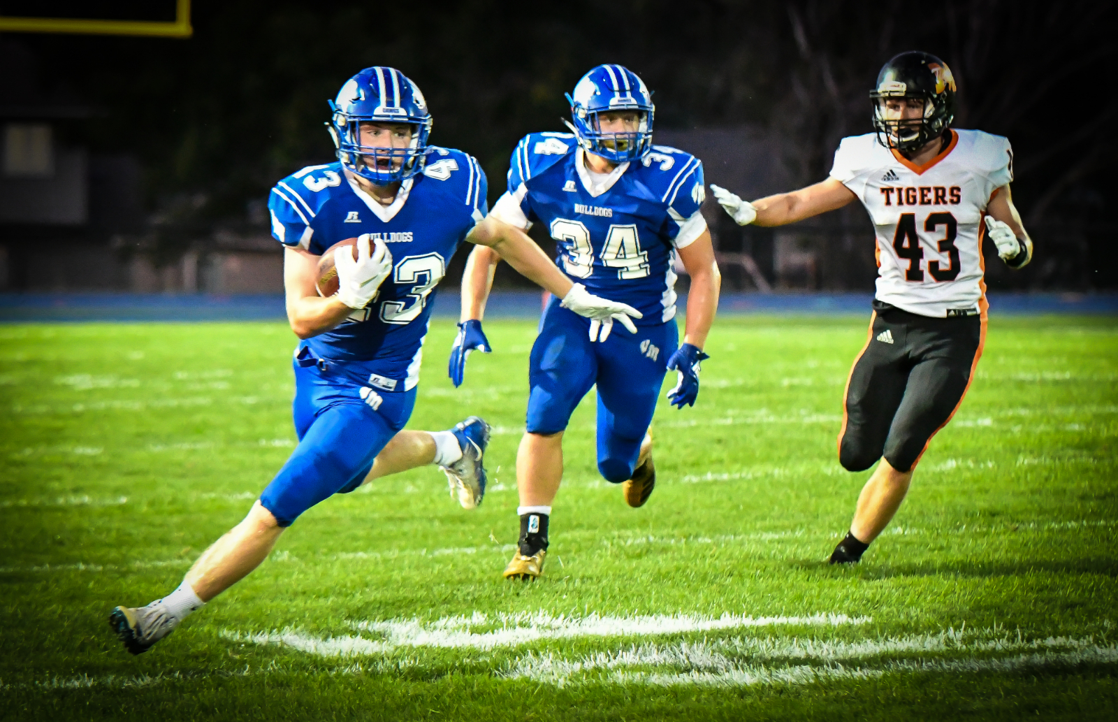 Van Meter With Shut Out Victory Over Madrid 42-0