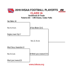 Class 1A State Championship Game – Van Meter (12-0) vs. West Lyon (11-1) – Friday, November 22 – 10:00 AM