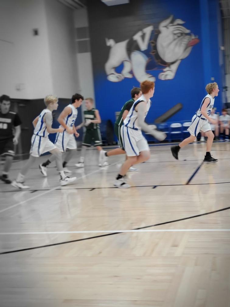 Boys 8th Grade Basketball beats Woodward-Granger