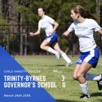 Varsity Girls Soccer Beats The Governor's School
