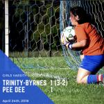 Girls Soccer Beats Pee Dee