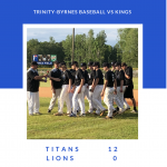 TBCS Baseball Wins on Senior Night