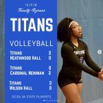 Titan Volleyball Advance in Playoffs