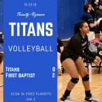 TBCS Volleyball vs First Baptist in Playoffs