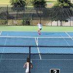 Varsity Tennis Sweeps Laurence Manning