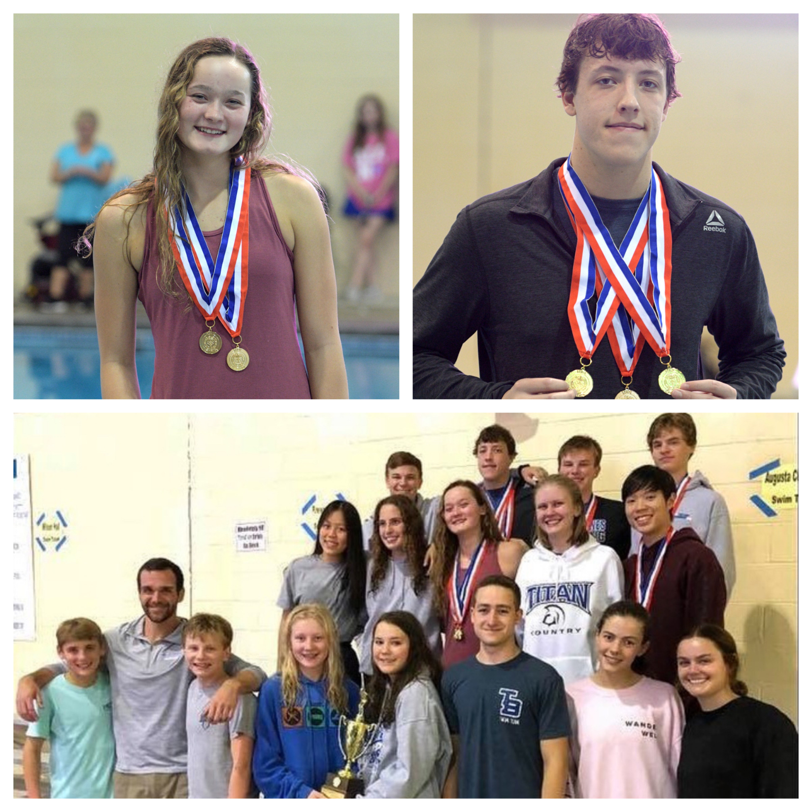 Carey and Phipps State Champs and Boys Swim State Runners Up