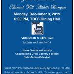 Athletic Banquet Dec. 9th