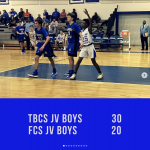 JV Boys Win in Region 1st Round