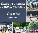 JV Football Defeats Dillon Christian