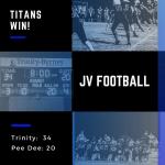 JV Football Defeats Pee Dee