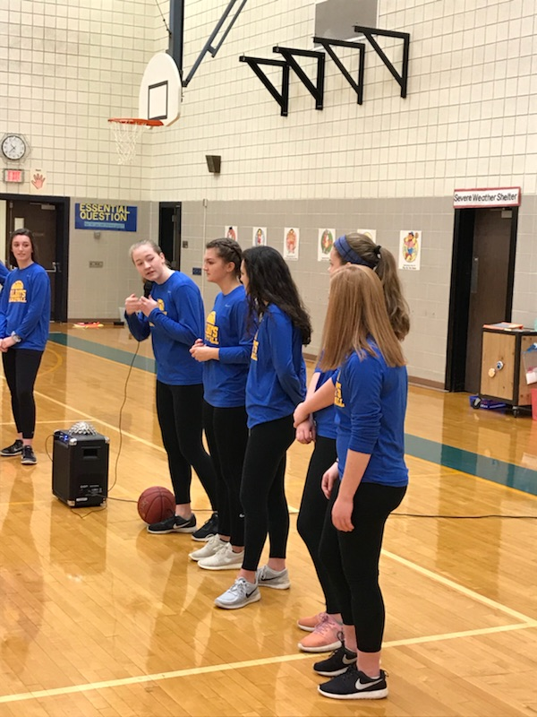 HHS Girls Varsity Basketball at Elementary Schools