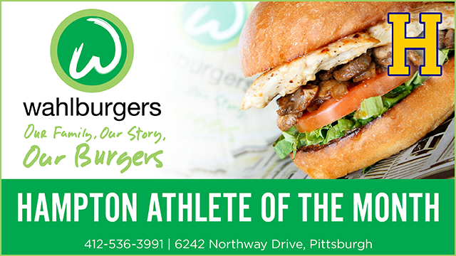 Congratulations to September's Athlete of the Month! Sponsored by Wahlburgers