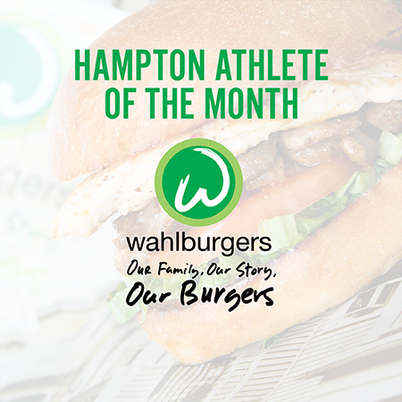 Congratulations to the September Athlete of the Month! Sponsored by Wahlburgers.