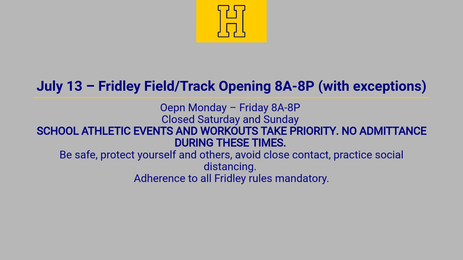 July 13th Fridley/Track Opening