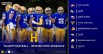 Talbot Football 2020 Revised Schedule