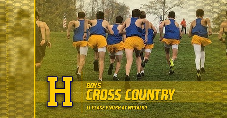 11th Place Finish – Boys Cross Country