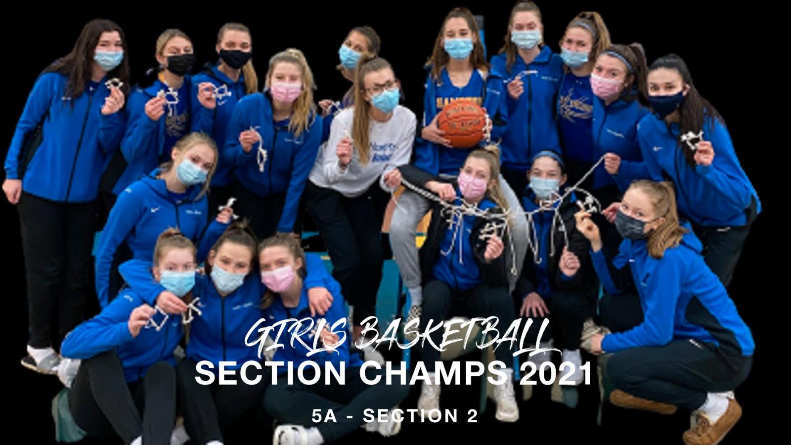 Girls Basketball Win Section
