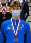 Silver lining, record finish for Hampton swimmer Donato