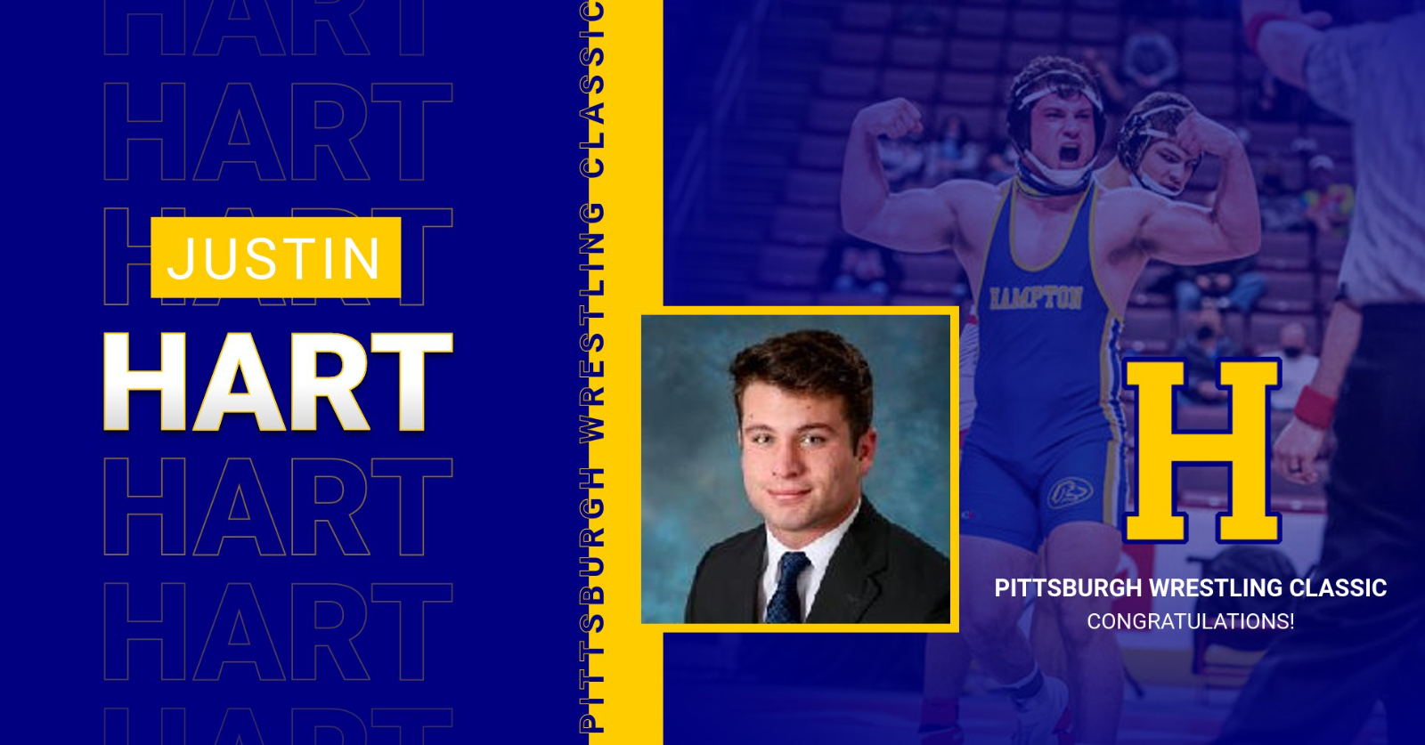 Justin Hart selected to wrestle @ the Pittsburgh Classic