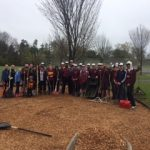 Baseball performs Community Service