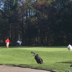 Chicopee High School Boys Varsity Golf beat Frontier Regional School 21.5-2.5