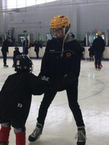 Hockey Volunteers at Pioneer Valley Lightning Learn to Skate program