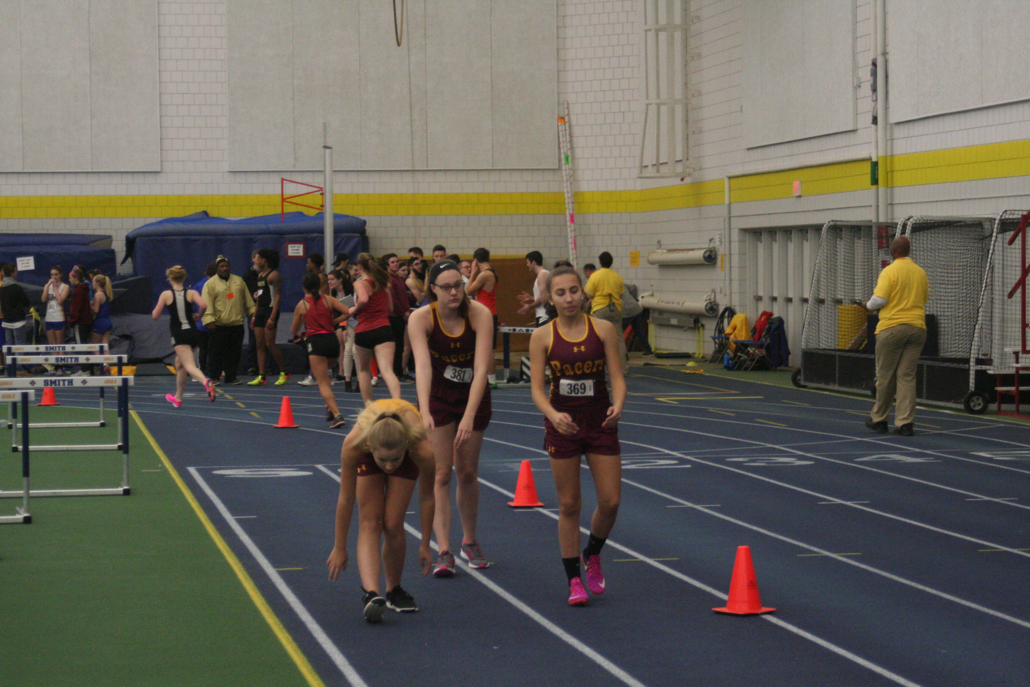 Girl's Indoor Track Breaks School Record in 4×800
