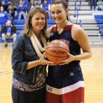 Michal scores 1,000th point
