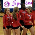 Simley High School Girls Varsity Volleyball falls to Hastings High School 3-2