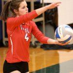 Simley High School Girls Varsity Volleyball beat Visitation High School 3-2