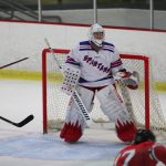 Simley High School Boys Varsity Hockey beat Coon Rapids High School 2-1