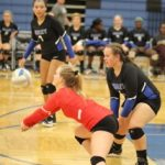 Simley High School Girls Varsity Volleyball beat Hastings High School 3-0