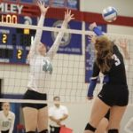 Simley High School Girls Varsity Volleyball beat Mahtomedi High School 3-0